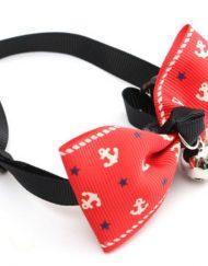 Lacinho Gravatinha Vermelha Ãncoras com Guizo para Cachorro ou Gato - Unitário
